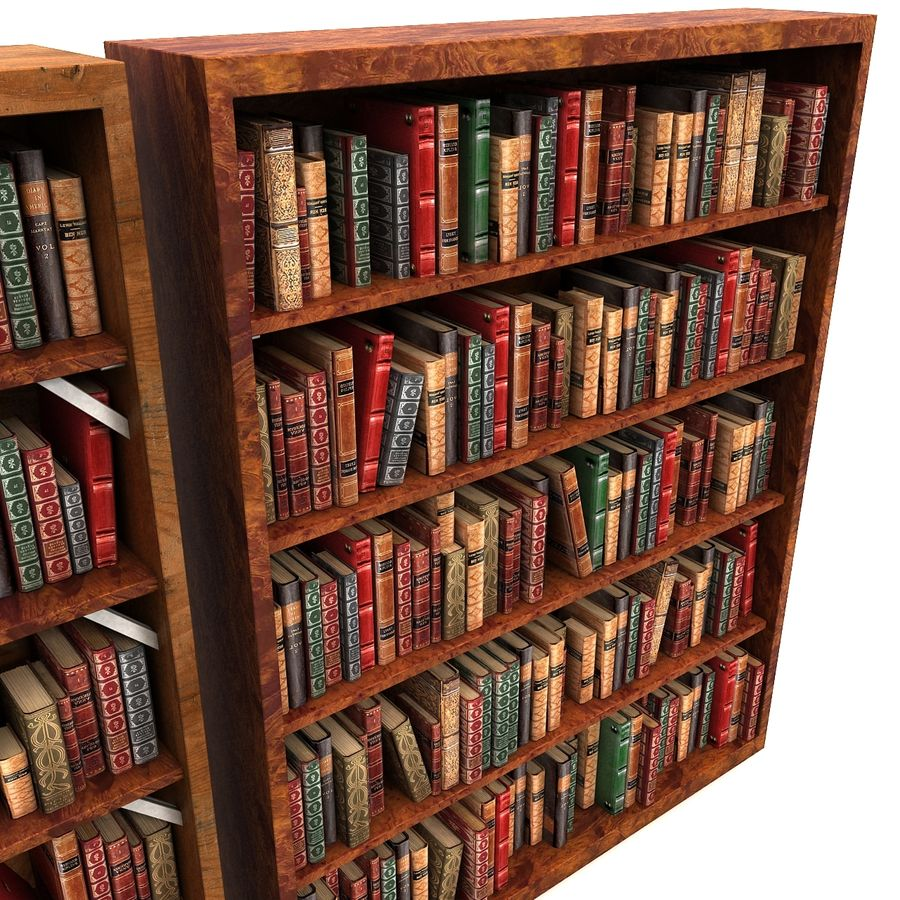 Altes Bücherregal Altes Hölzernes Luxuriöses Bücherregal 3d Modell 39 Max Free3d