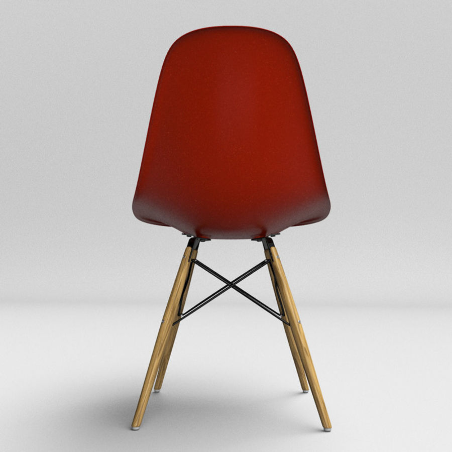 Eames Chair Base Eames Molded Plastic Chair With Wooden Base 3d Model 18