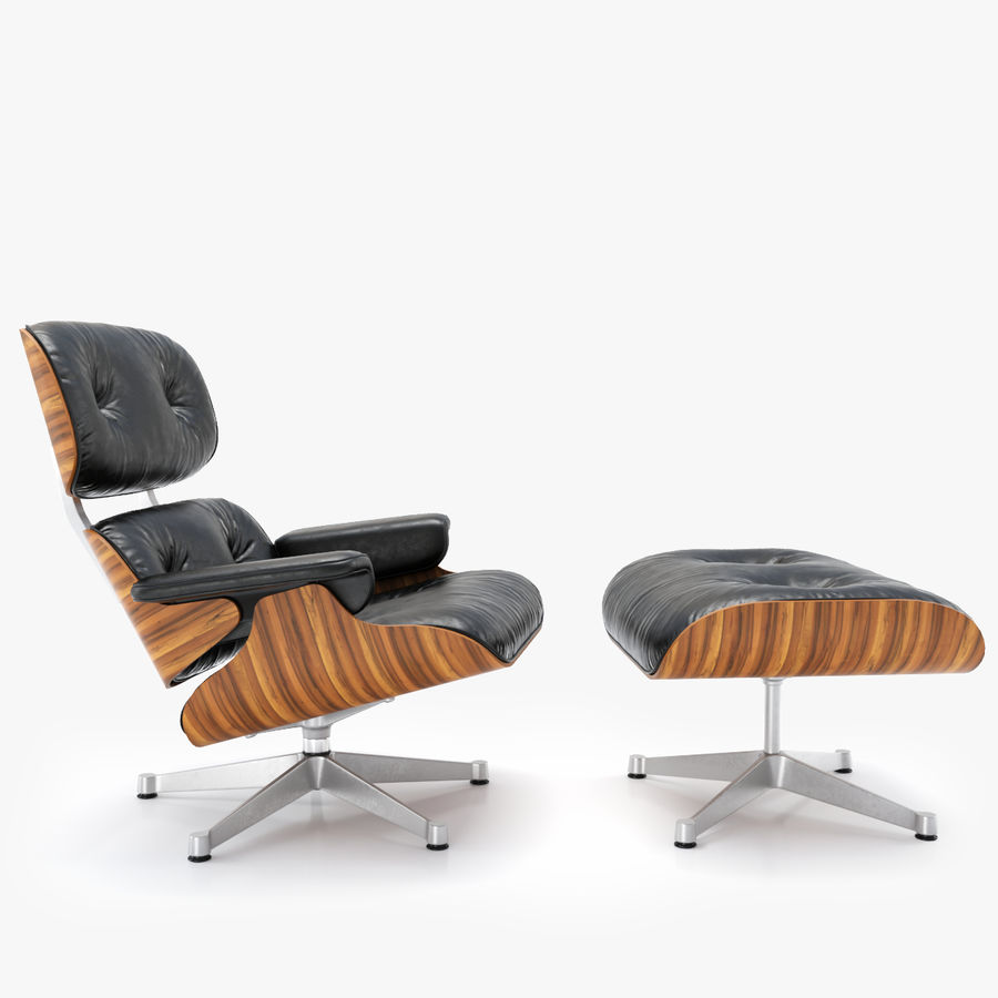 Vitra Eames Lounge Chair Black Vitra Lounge Chair Und Ottoman Charles Ray Eames 3d Modell 39
