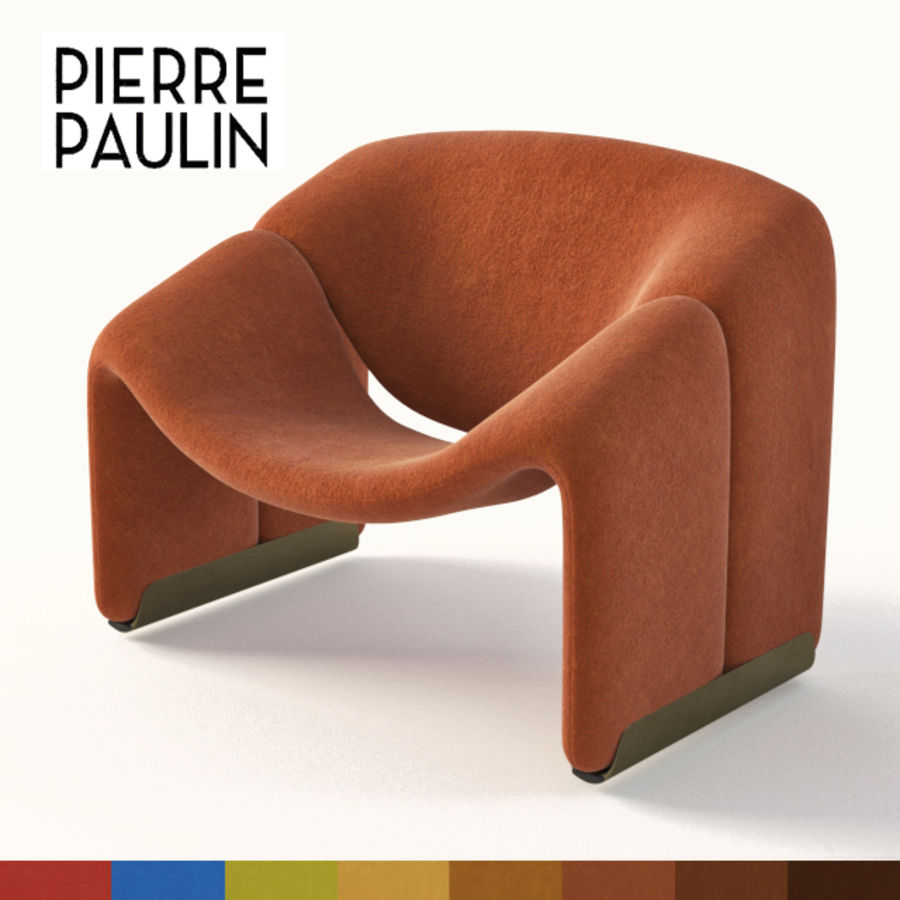 Pierre Paulin Sofa Pierre Paulin F 598 Chair 3d Model 12 Fbx Max Jpg Free3d