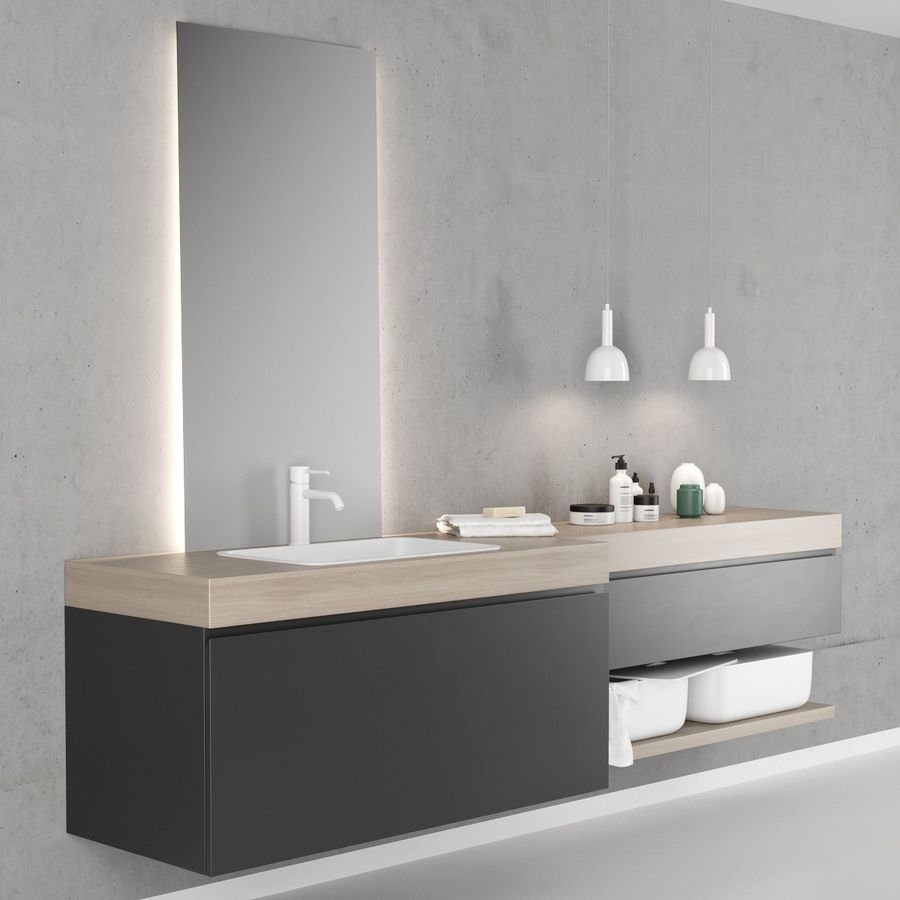 Bathroom Furniture Set 2 Scavolini Qi 3d Model 8 Fbx Obj Max Free3d