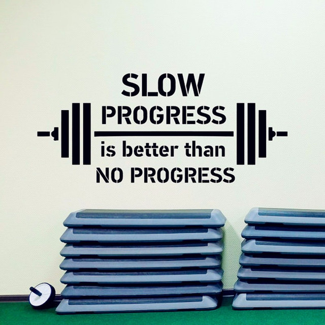 Quotes Motivational Wall Gym Fitness Decal Sticker Inspirational
