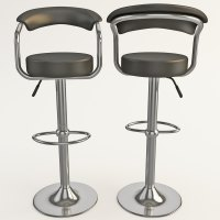 modern contemporary bar stools 3d 3ds