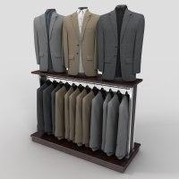 3d model of sport coat rack