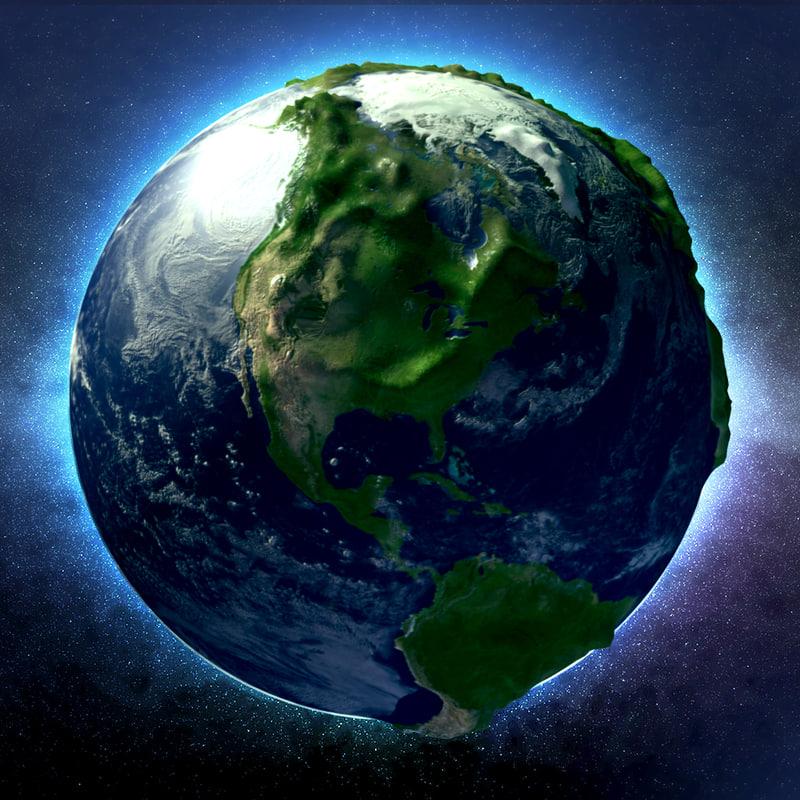 3d Moving Solar System Wallpaper Sculpted Earth 3d Model
