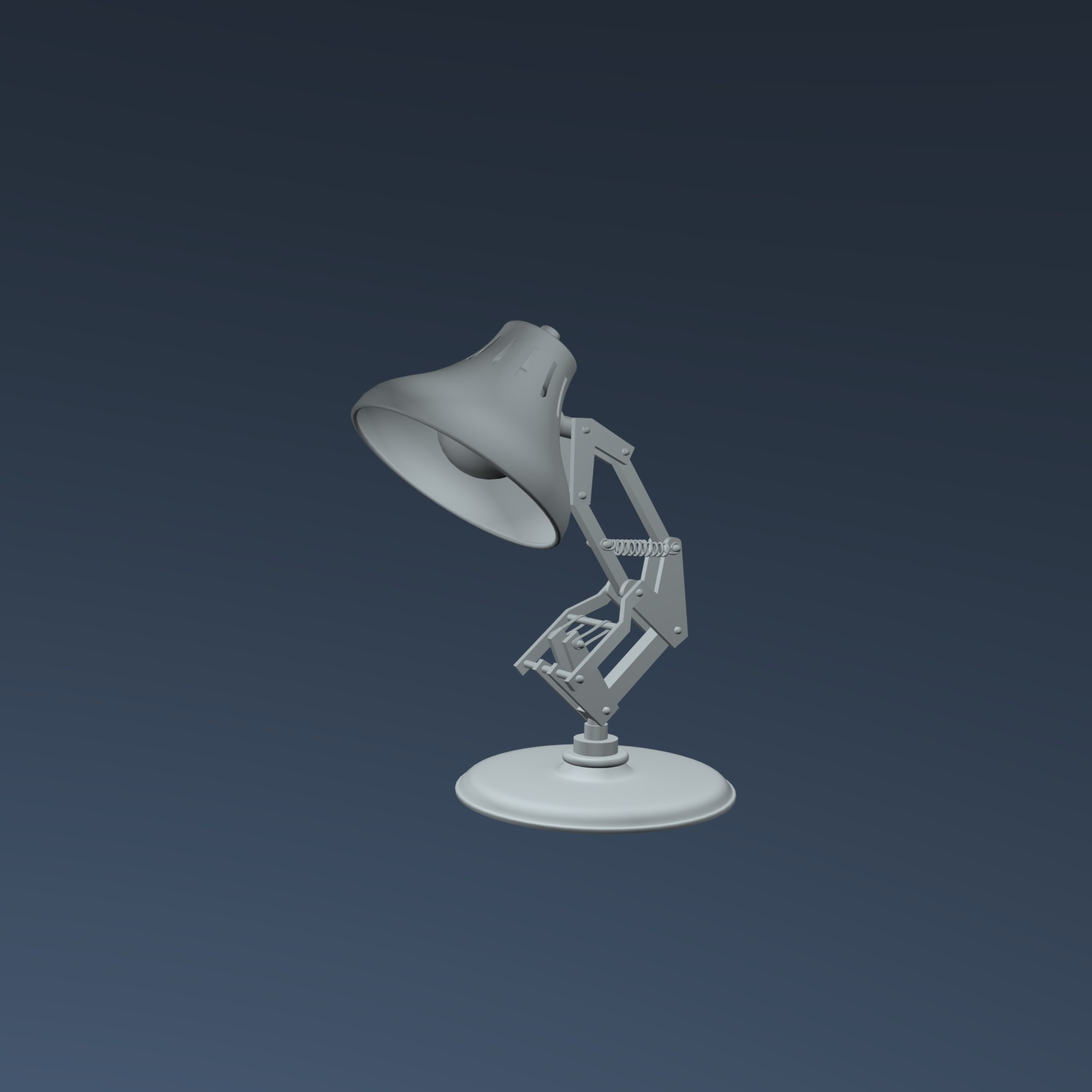 Pixar Desk Lamp Free Obj Model Luxo Pixar Lamp