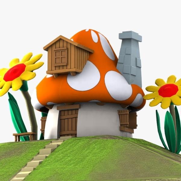 The Smurfs 2 3d Live Wallpaper 3d Mushroom House Smurf