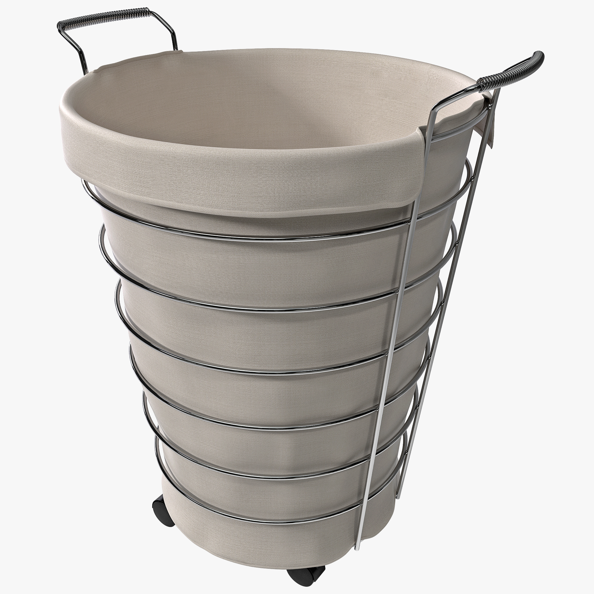 Chrome Laundry Basket Chrome Rolling Hamper 3d Max