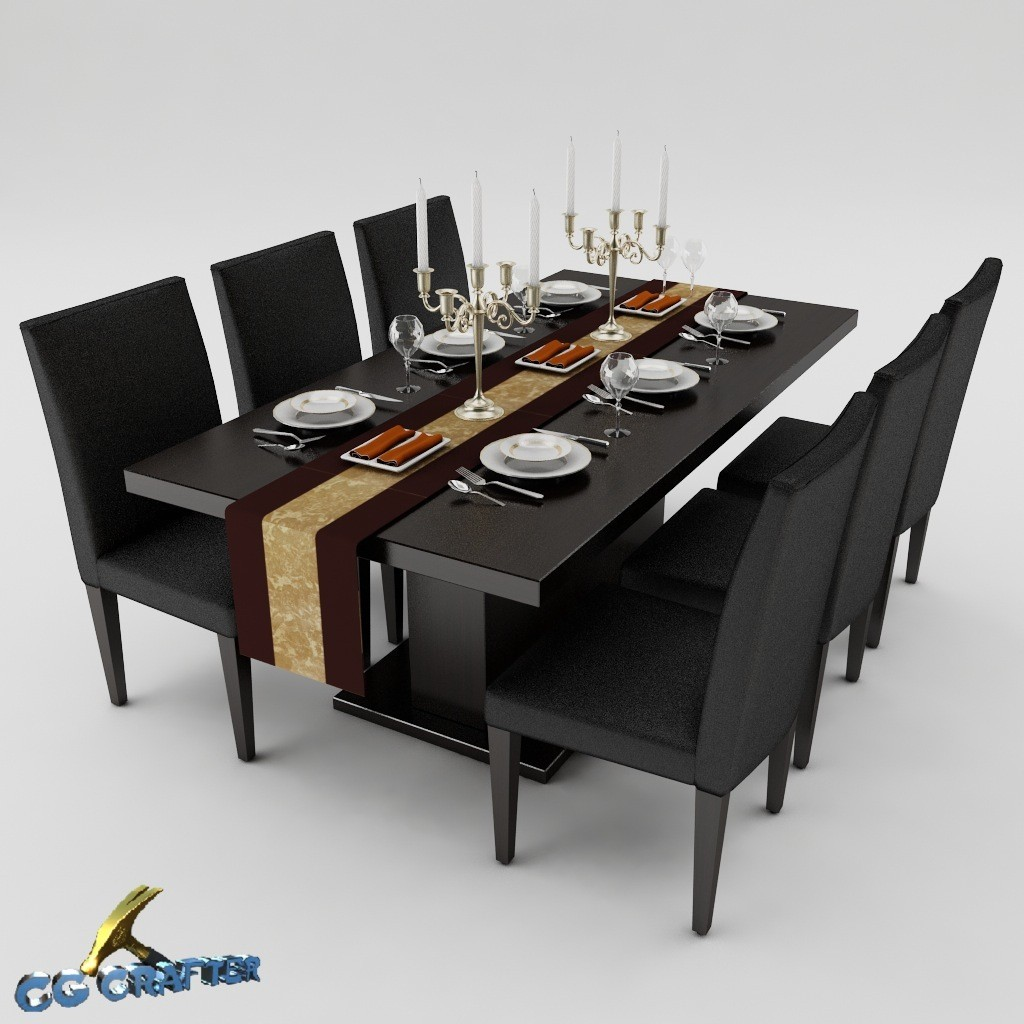 Max A Table 3ds Max Dining Table Set