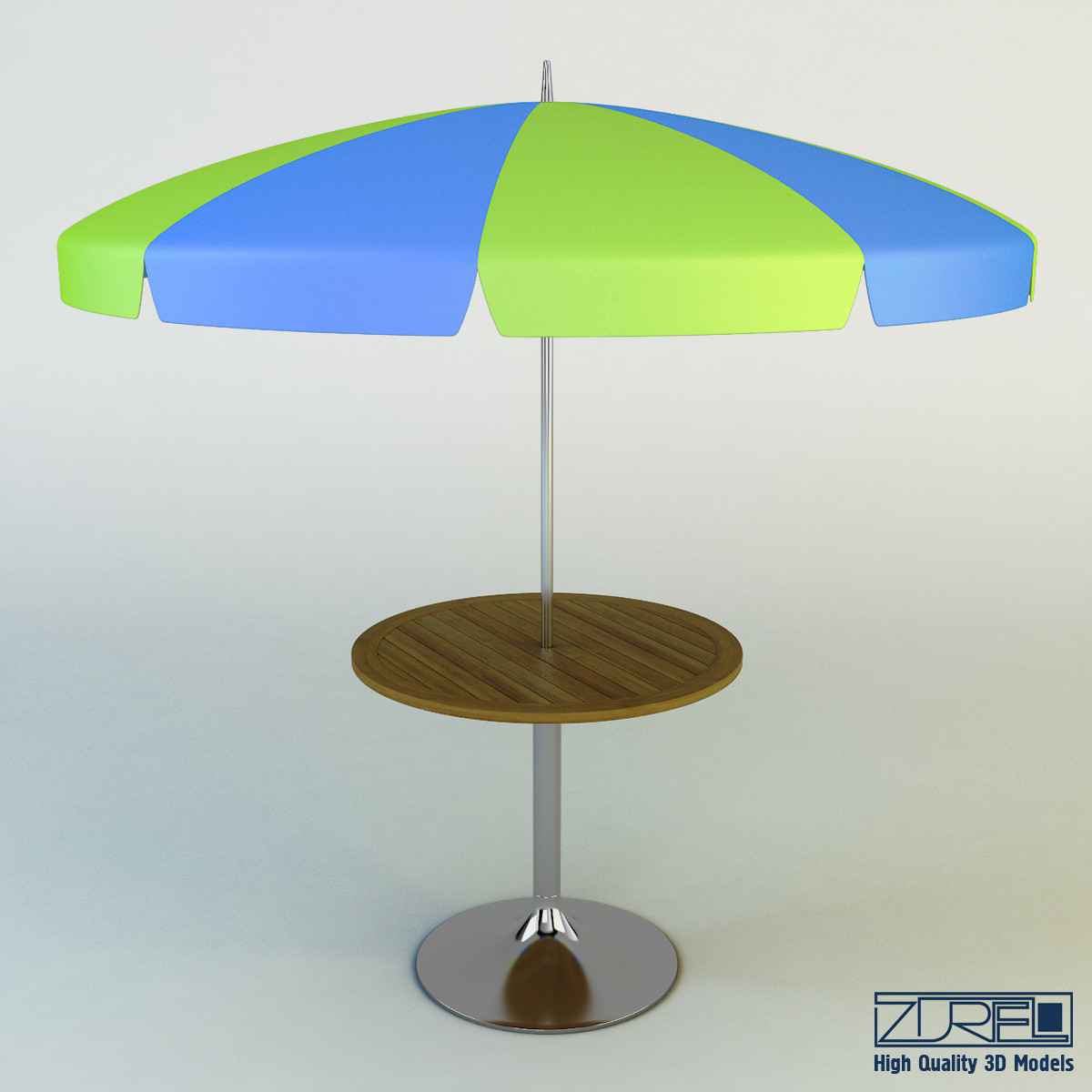 3d Patio Table Umbrella Model