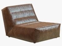 3d restoration hardware chelsea leather chair
