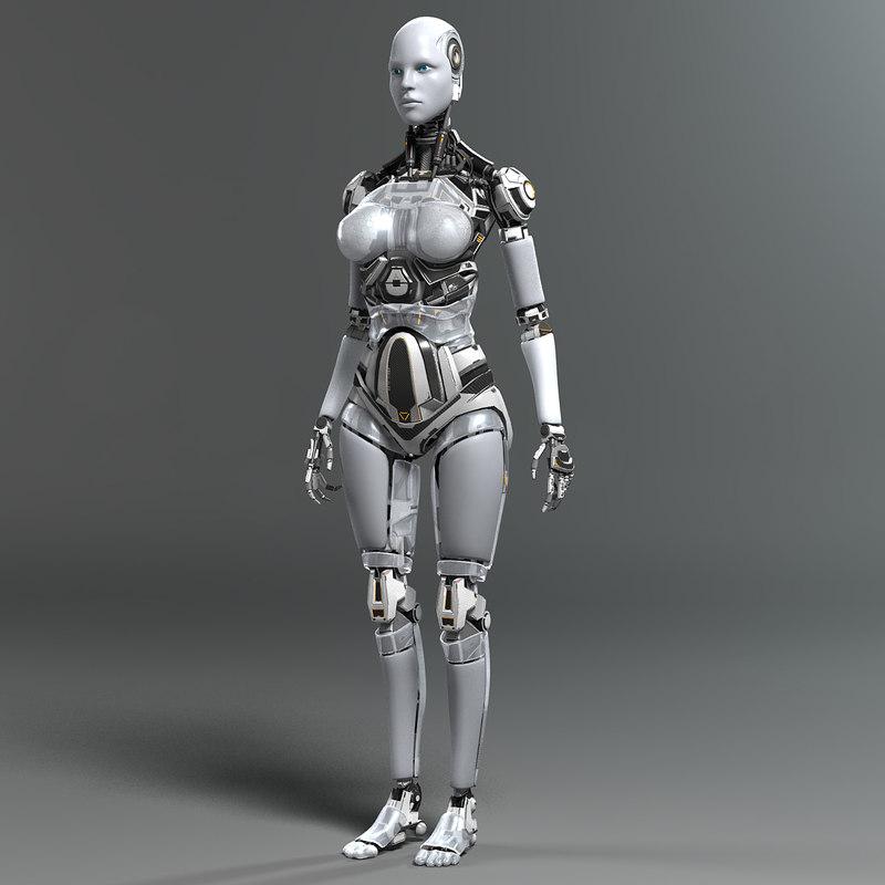 High Resolution Anime Girl Wallpapers 3d Model Female Robot