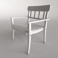 garden chair 3d max
