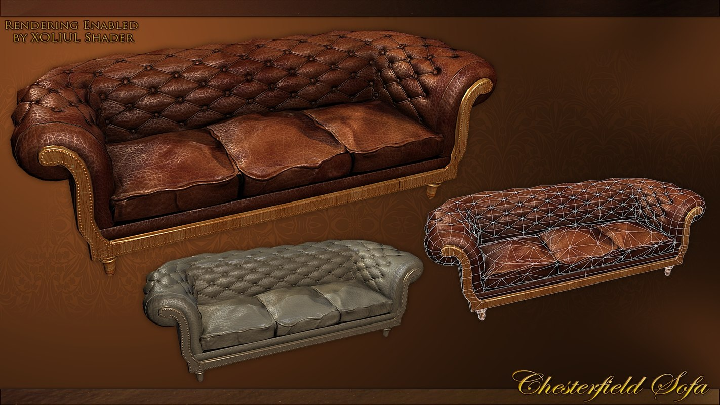 Chesterfield Sofa Texture Chesterfield Sofa 3d Max
