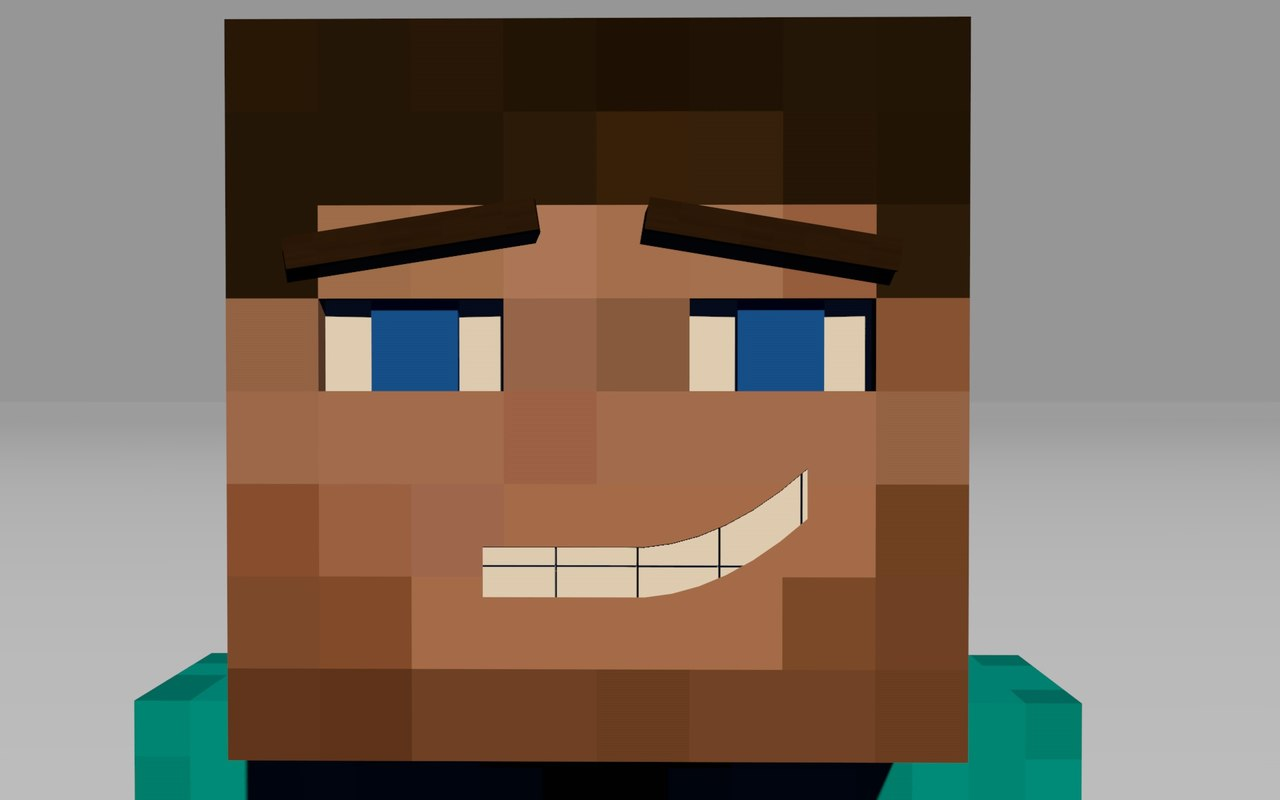 Minecraft Characters Faces Cinema4d Rig Steve Kid