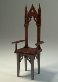 chair gothic 3d model
