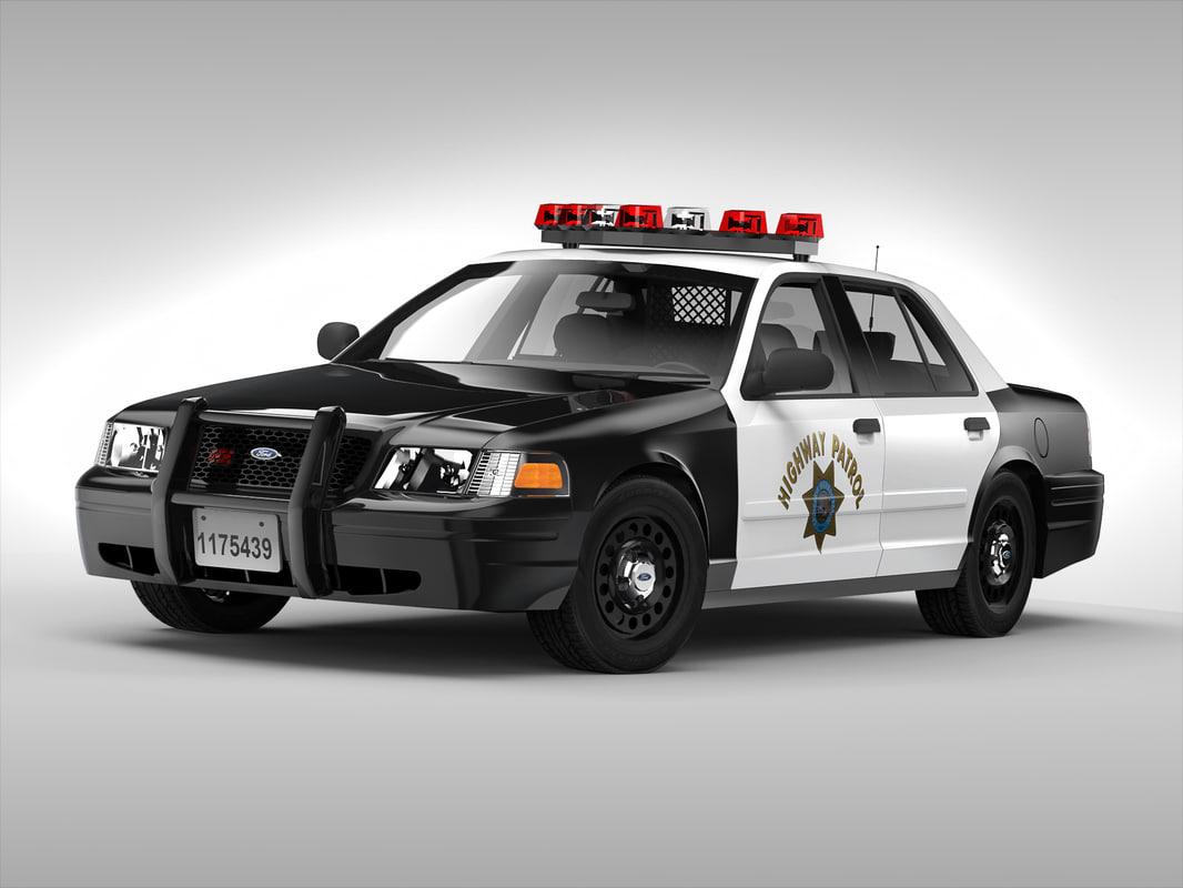 Police Cop Car Live Wallpaper 3d Obj Crown Victoria Car