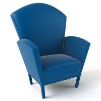 cartoon armchair 3d model