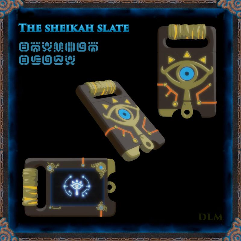 Zelda Botw Wallpaper Iphone X Sheikah Slate 3d Model