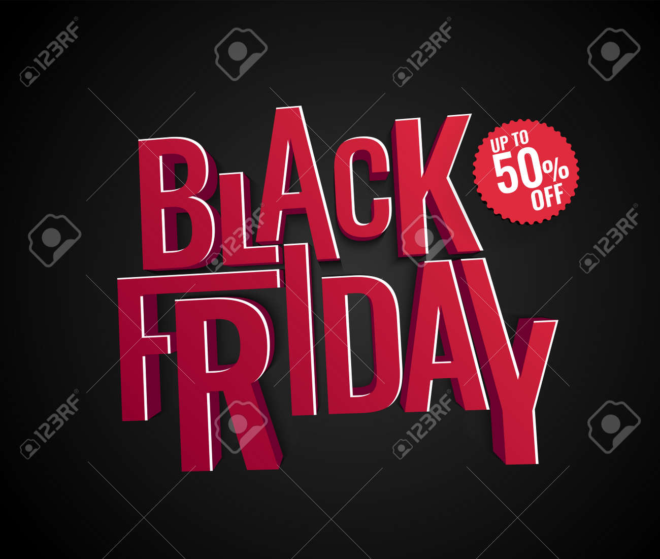 Black Friday Specials Black Friday Sale Inscription Design Template Special Offer Vector Illustration Up To 50 0ff