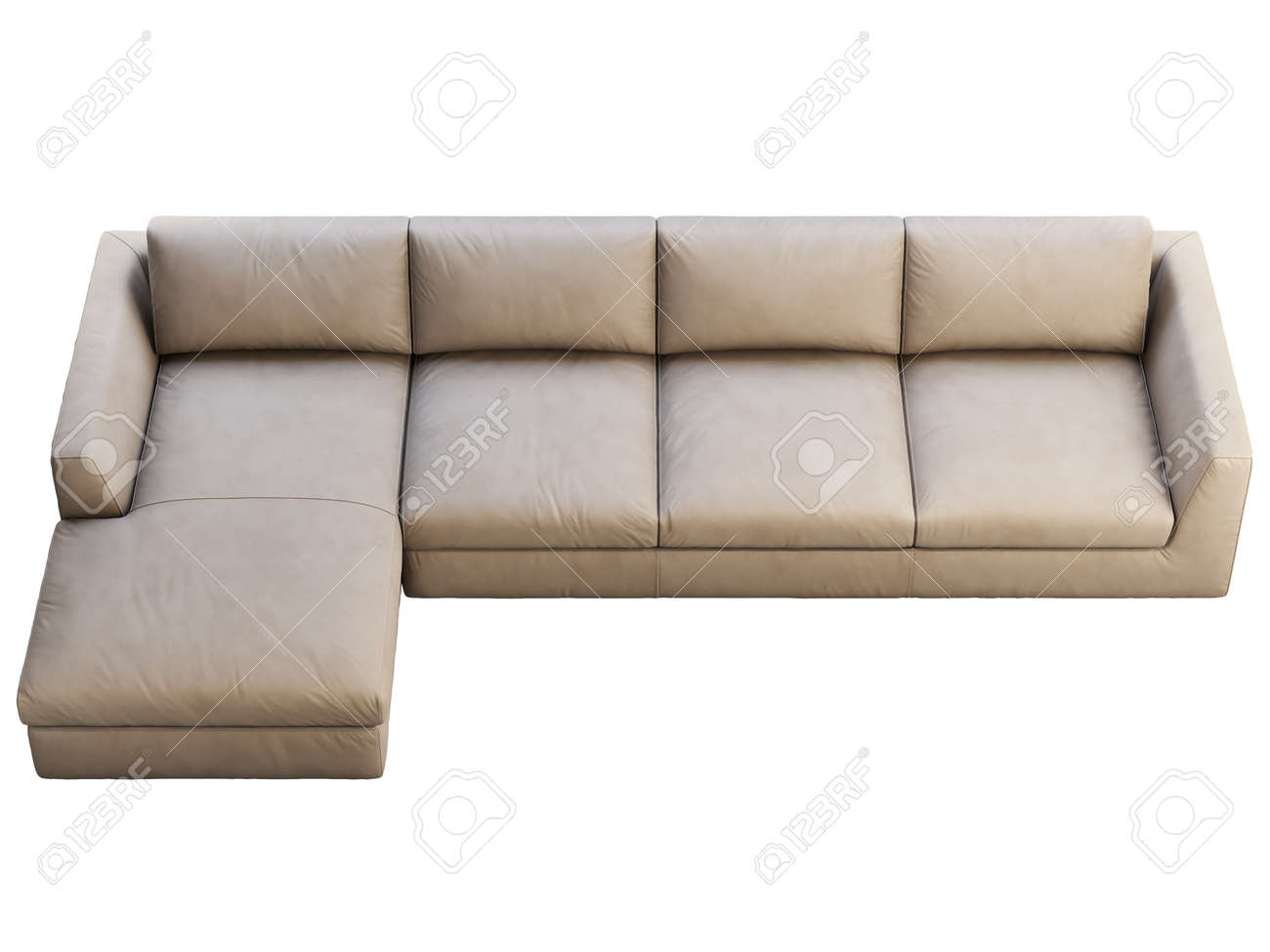 Chalet Modular Leather Sofa With Chaise Lounge Leather Upholstery Stock Photo Picture And Royalty Free Image Image 138175919