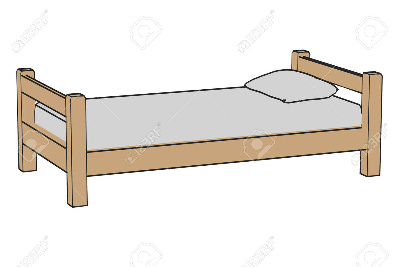 Simple Bed Cartoon Image Of Simple Bed