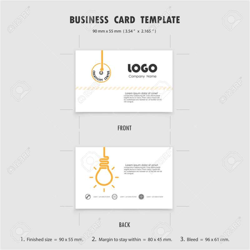 Large Of What Is The Size Of A Business Card