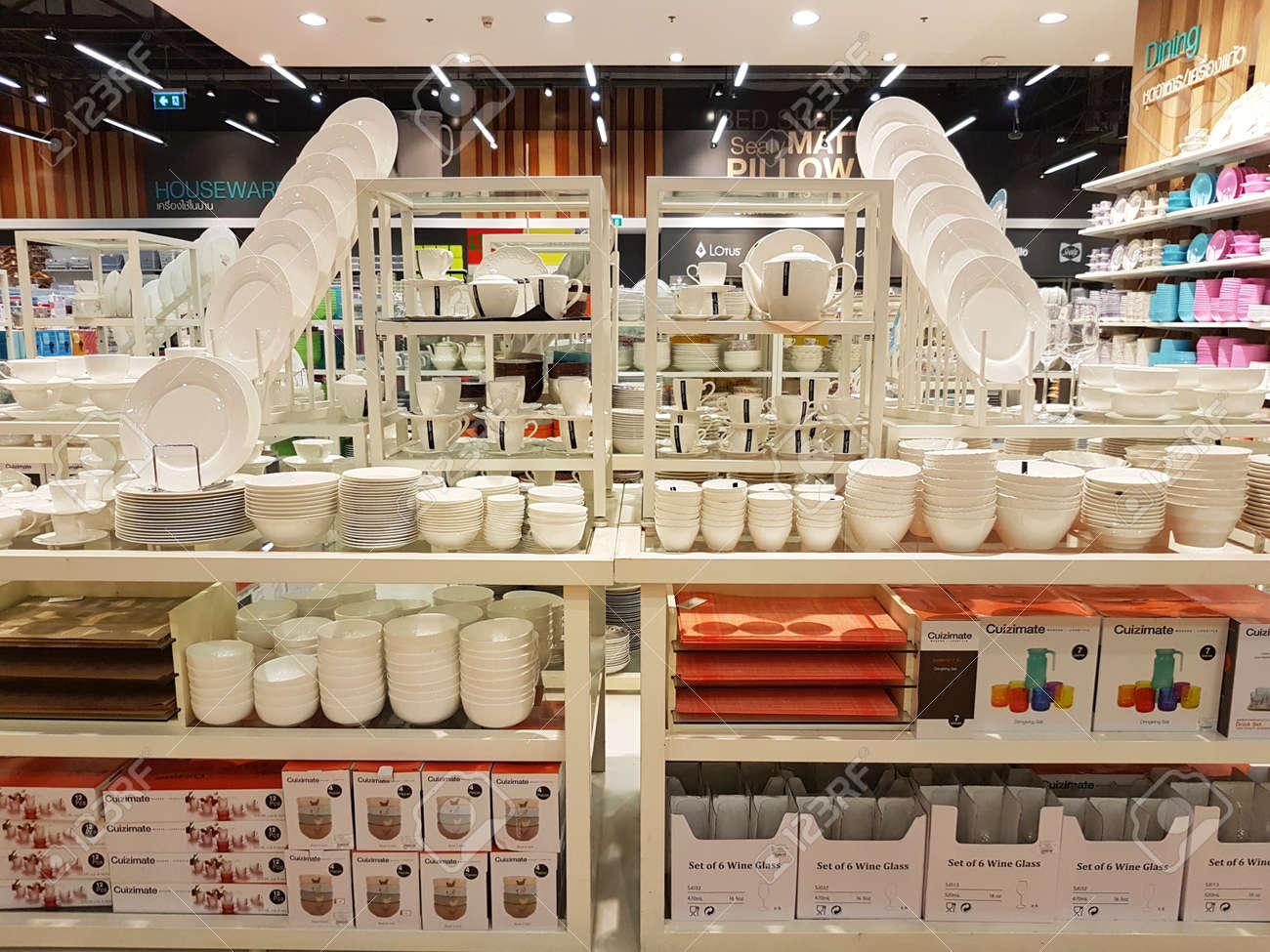 Kitchenware Shop Chiang Rai Thailand February 2 Department Store Interior