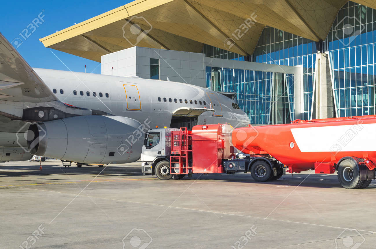 Airplane Maintenance Refueling Airplane Aircraft Maintenance Fuel At The Airport