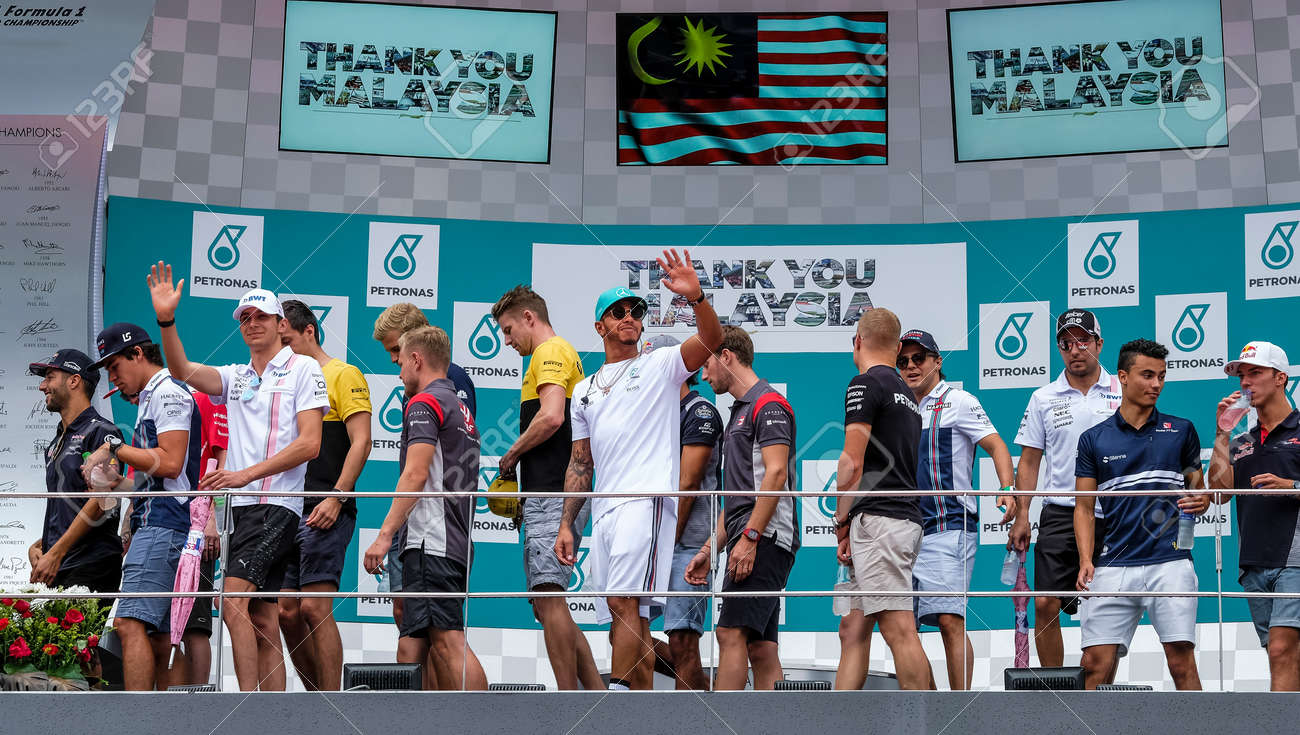 F1 2017 Drivers Sepang Malaysia October 01 2017 The F1 Drivers Wave To