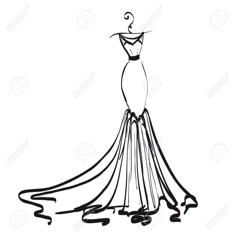 Large Of Wedding Dress Clipart