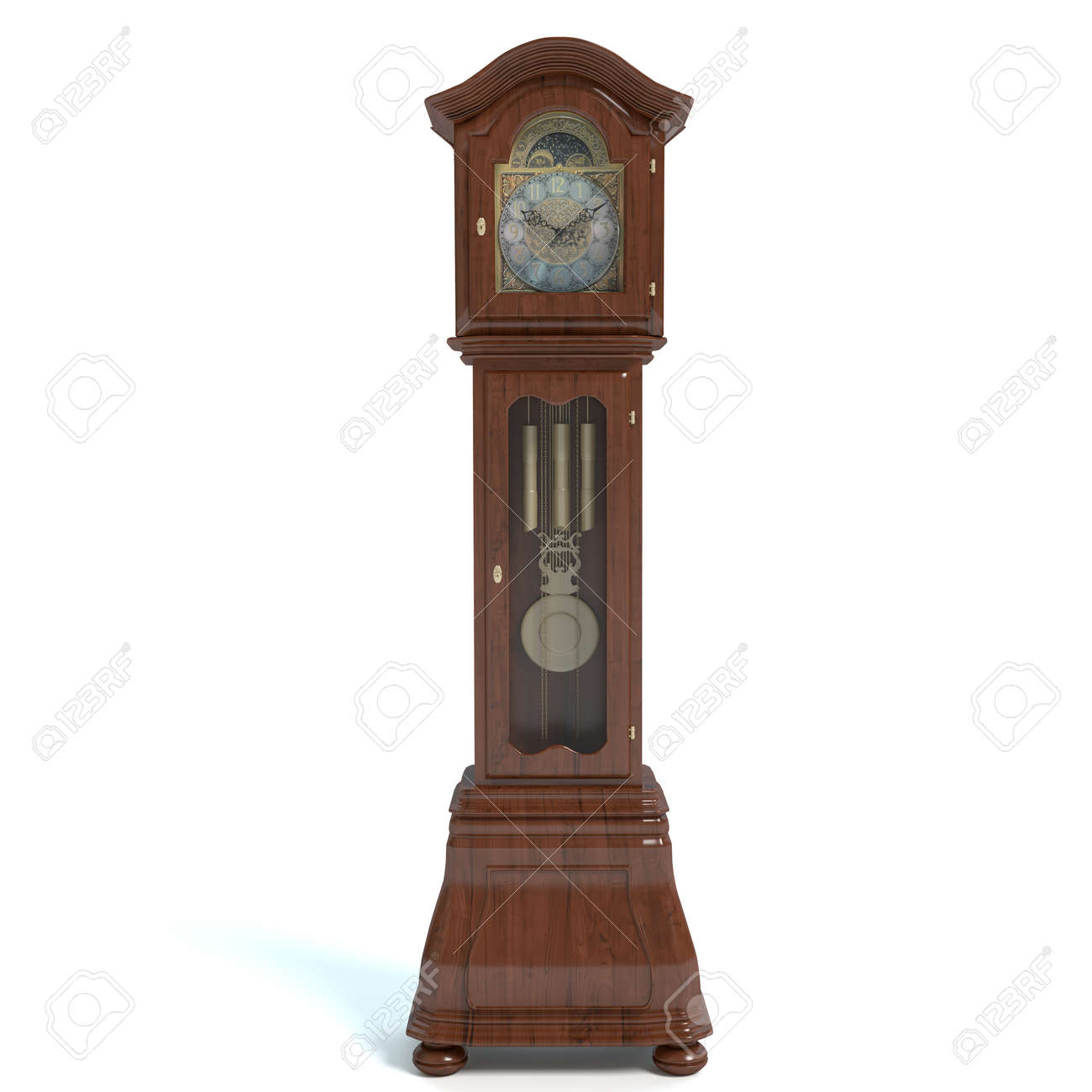 Standuhr Digital 3d Illustration Of A Grandfather Clock