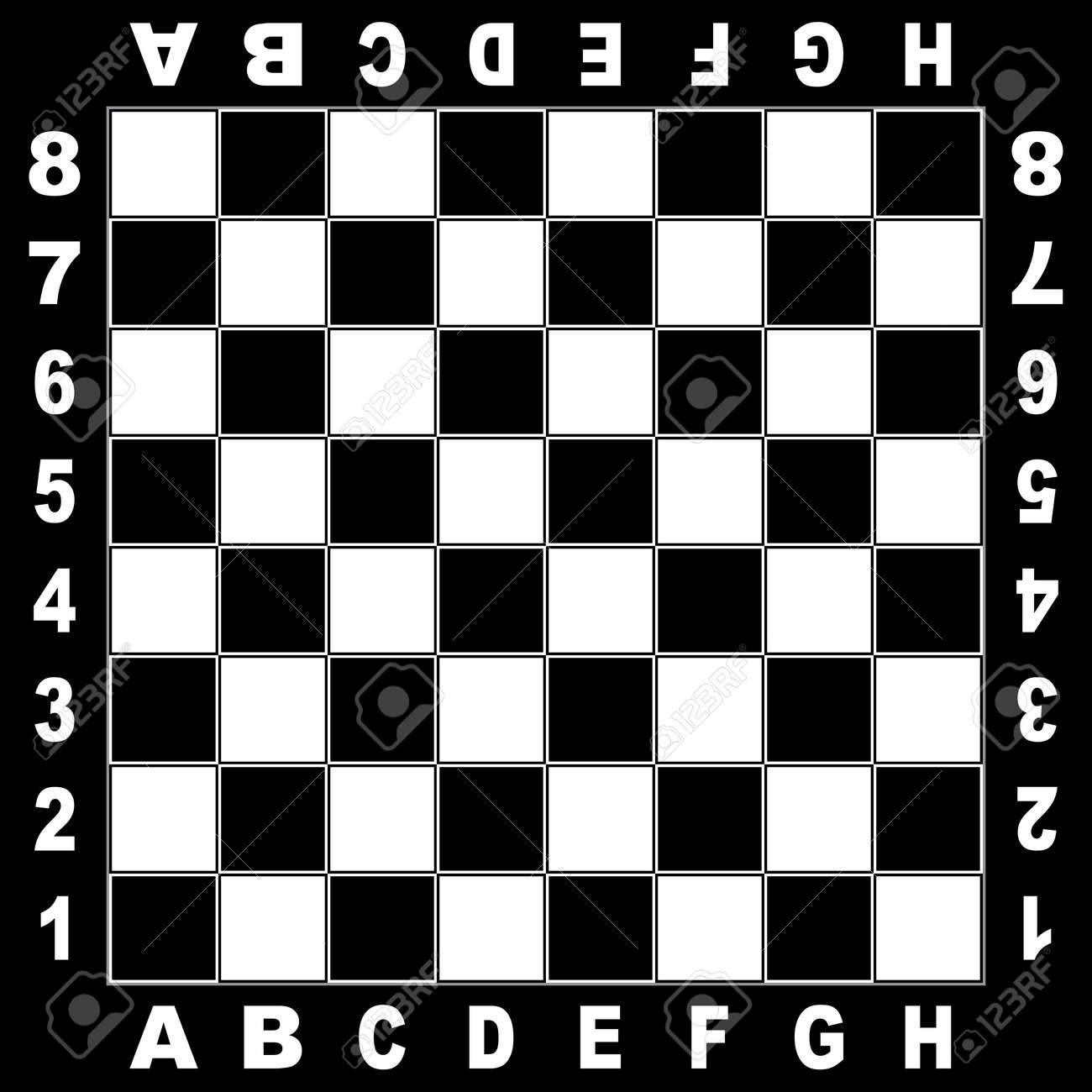 Chess Table Chess Table White Black Board For Competition Original Design