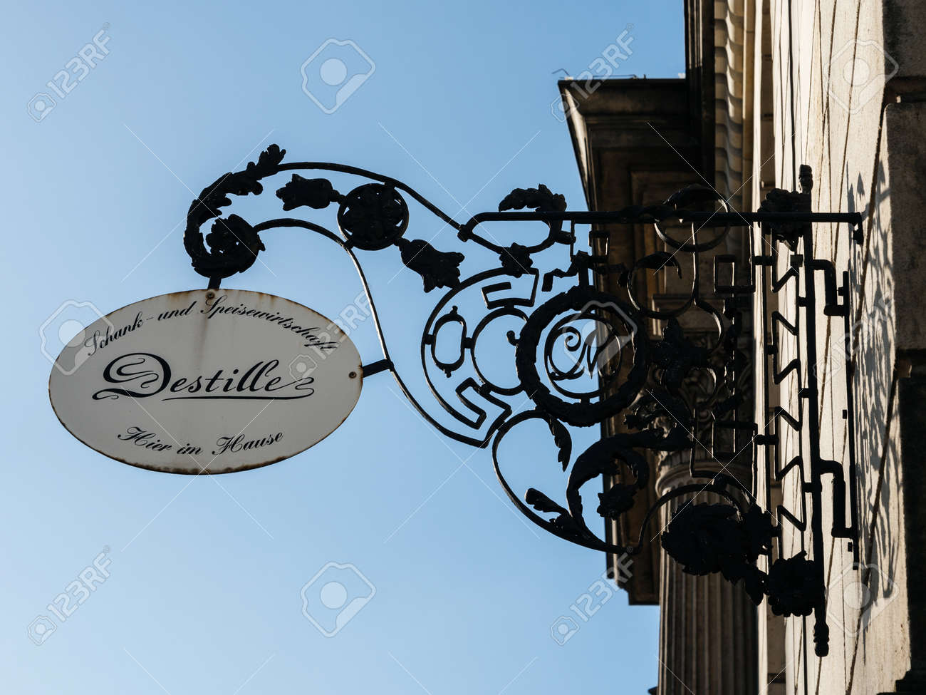 Museum Für Kunst Und Gewerbe Hamburg, Germany - Mar 20, 2018: Destille Restaurant Signage.. Stock Photo, Picture And Royalty Free Image. Image 132491431.