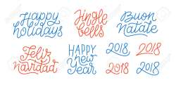 Arresting Clients Numbers 2018 Feliz Navidad Buon Natale Happy Holidays Line Art Calligraphic Le Happy Holidays Quotes Spanish Happy Holidays Quotes 92105468 Happy New Year Set