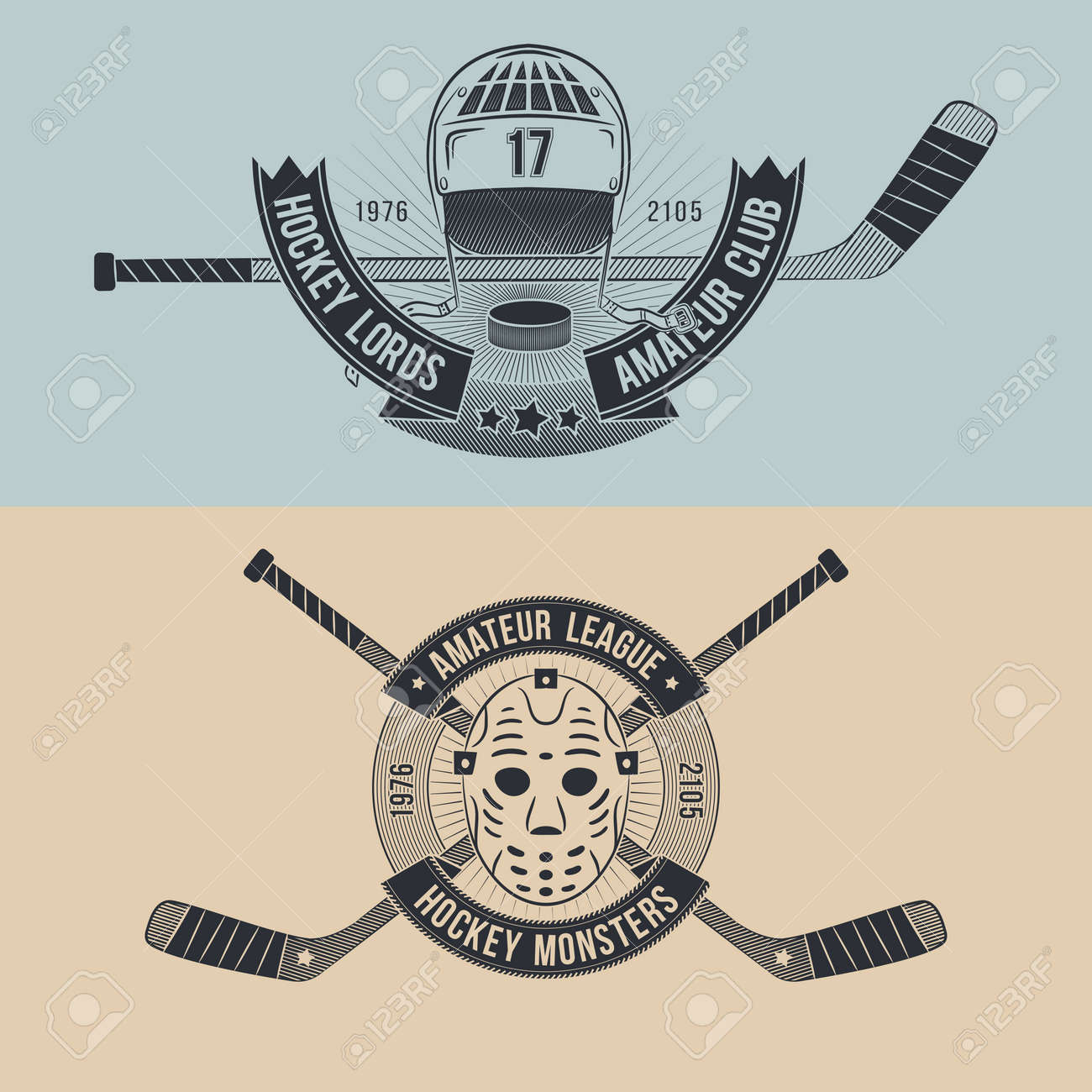 Hockey Logos Logos For The Hockey Team Or League Hockey Logo In The Style