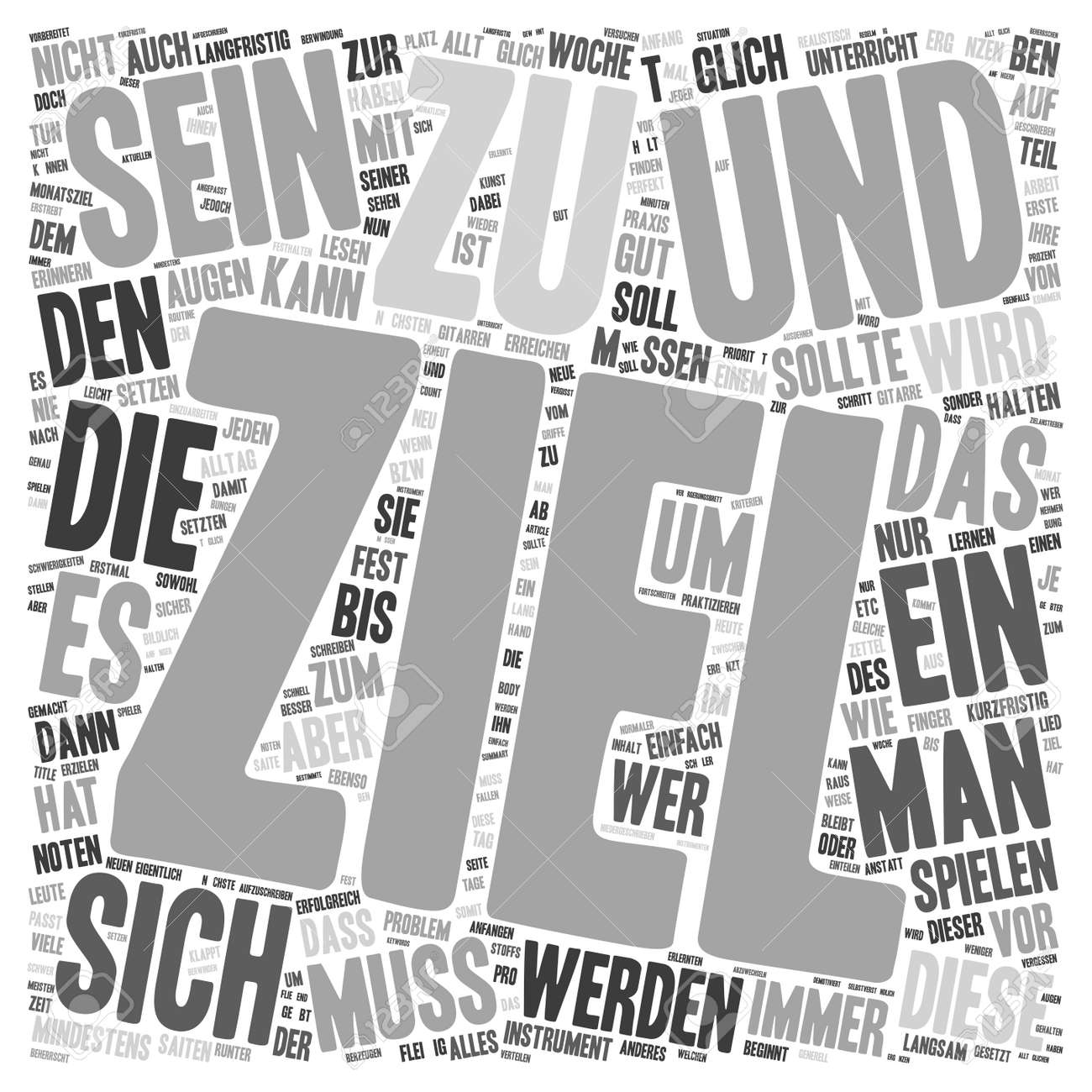 Die Kunst Die Kunst Des Ubens Text Background Wordcloud Concept