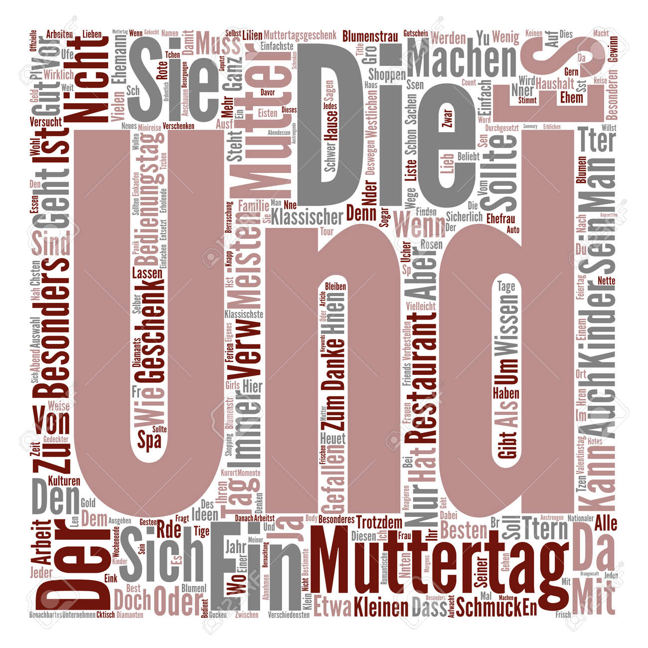 Geschenke Zum Muttertag Ideen Muttertag Geschenke Ideen Text Background Word Cloud Concept
