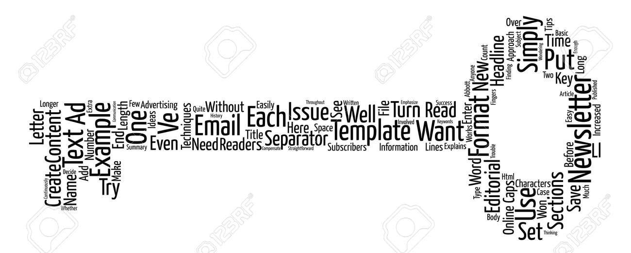 Email Newsletter Templates Text Text Background Word Cloud Concept - free email newsletter templates word