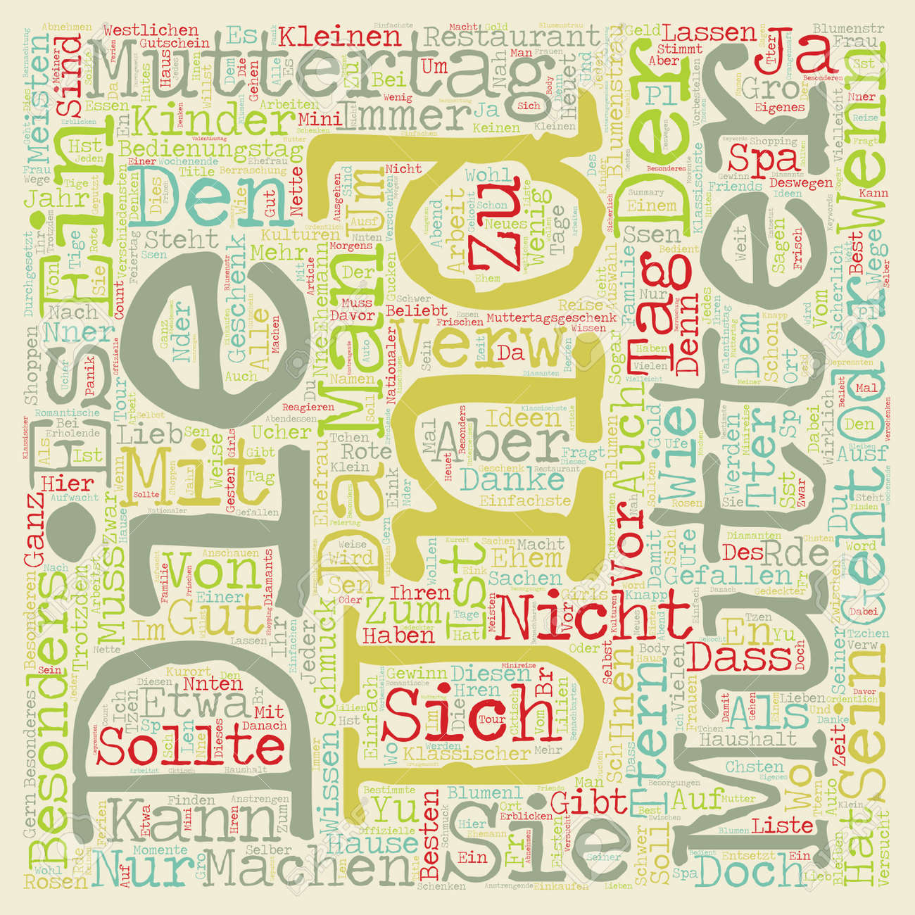 Geschenke Zum Muttertag Ideen Muttertag Geschenke Ideen Text Background Wordcloud Concept