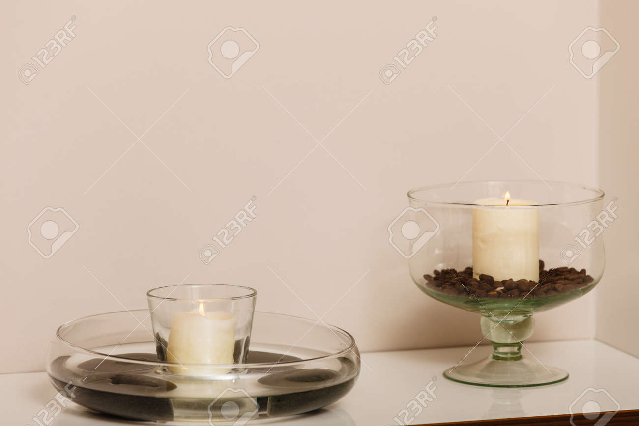 Decorative Glass Bowls Decorations For House Decorative Candles In Glass Bowls With