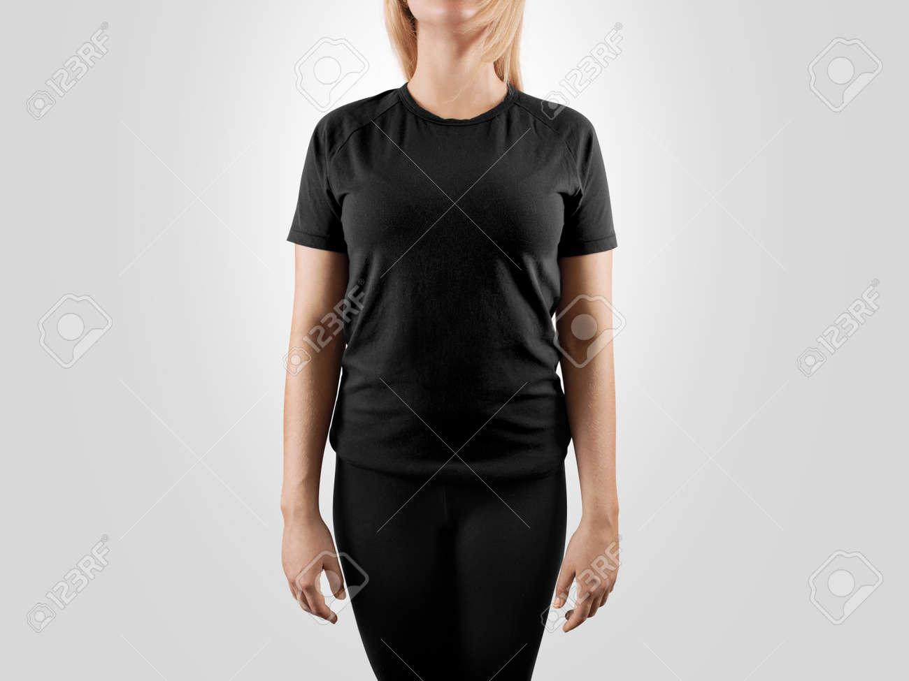 Black t shirt template - Download