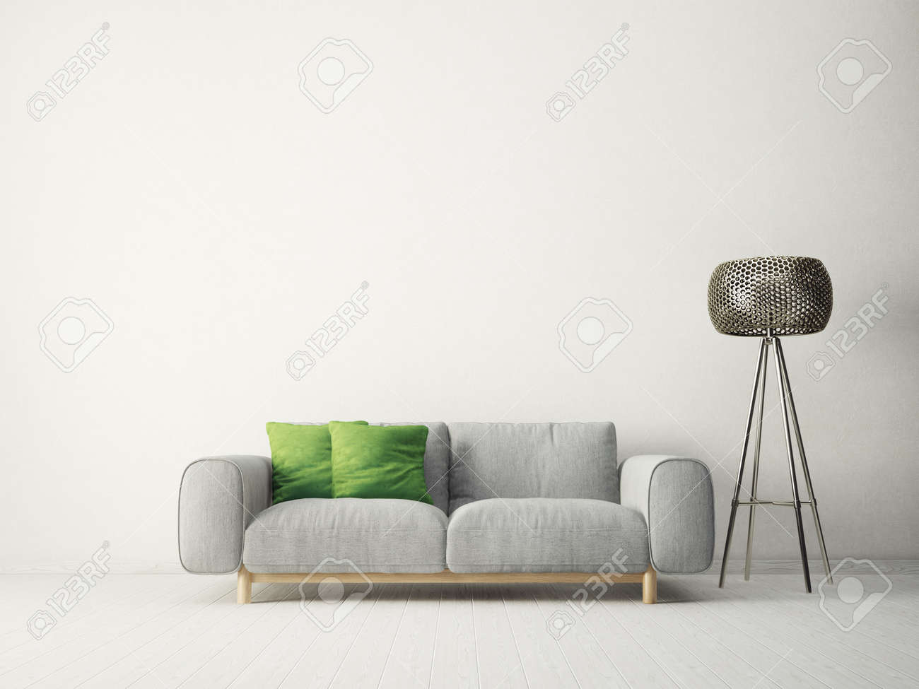 Sofa Modern Skandinavisch Stock Illustration
