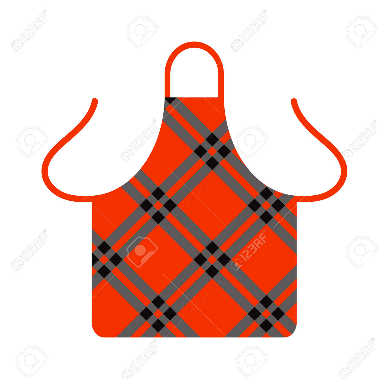 Tablier De Cuisine Cuisine Cuisine Tablier Chef Uniforme Des Vêtements De Protection Illustration Vectorielle Tablier De Cuisine Chef Uniforme Et Cuisine Textile