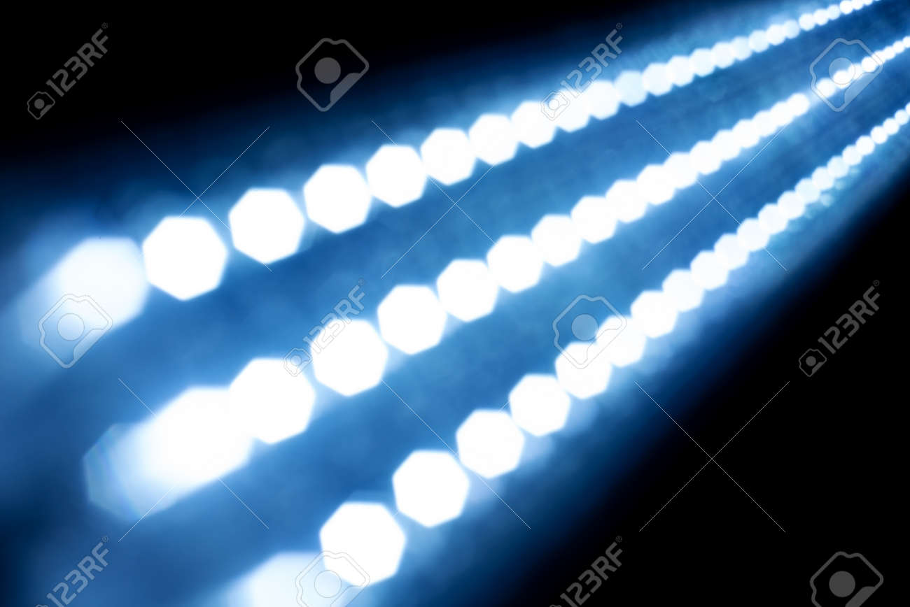 Diode Lighting Abstract Texture Glowing Lights On Black Background Blurred