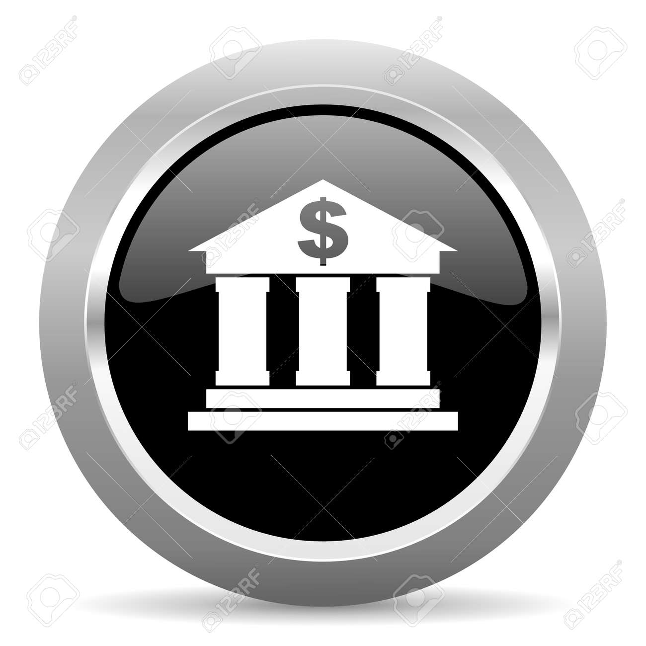 Bank Schwarz Stock Photo