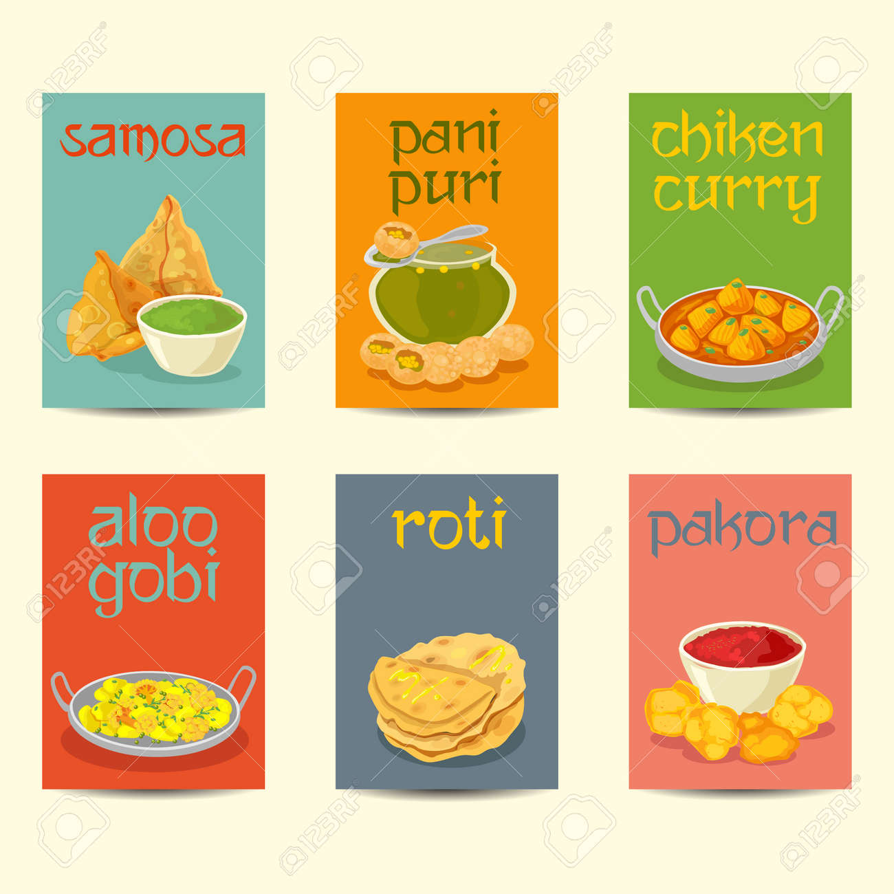 Poster Cuisine Indian Cuisine Food Dishes Colorful Posters Indian Dishes Banners