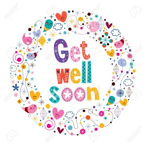 Witching Get Well Soon Card Get Well Stock Royalty Free Get Well Images Free Get Well Cards Dogs Free Get Well Cards To Color