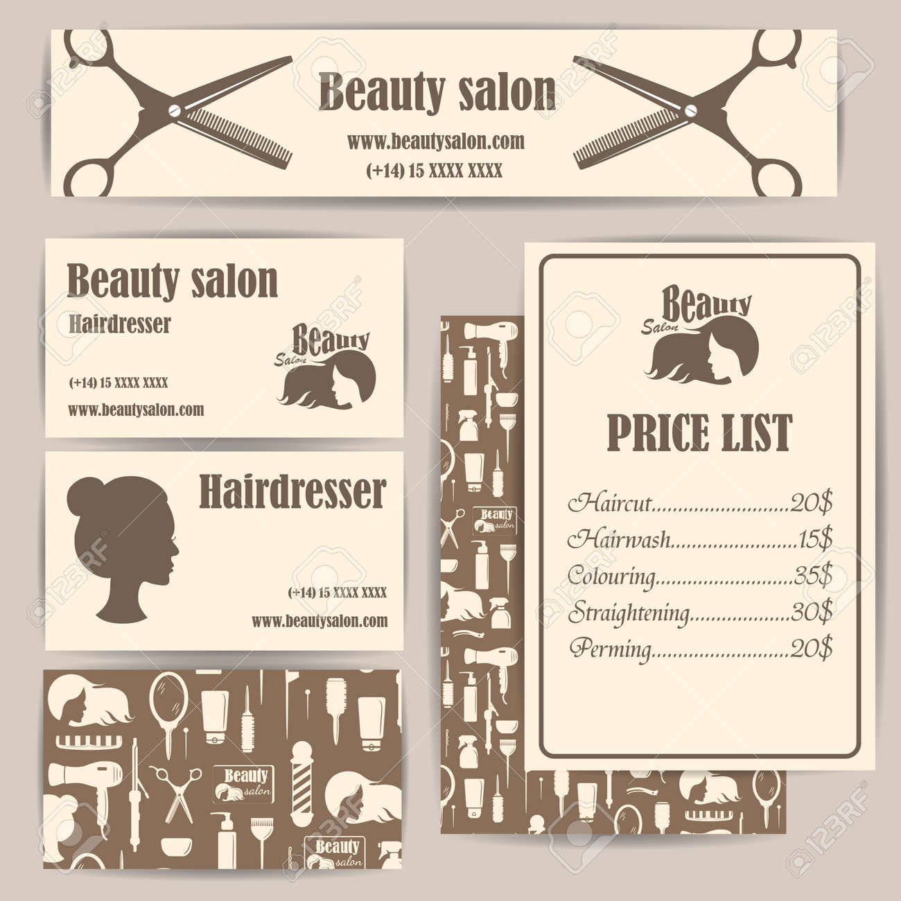 Beauty Salon Prices Beauty Salon Barbershop Vintage Business Cards And Prices Design