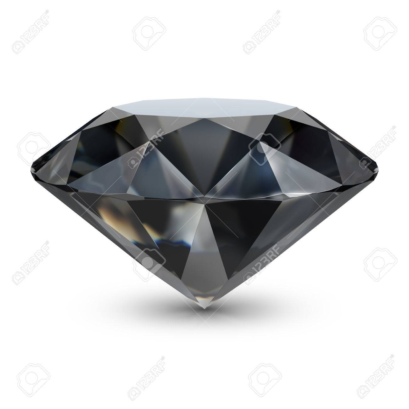 Black Diamond Black Diamond 3d Image Isolated White Background